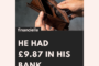 Guest Post:  He had £9.87 in his bank account.