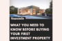 first Time investment property rental buy to let mortgage